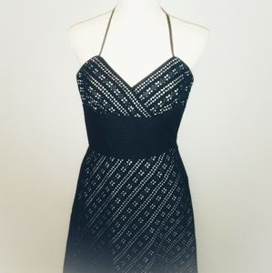 White House Black Market Black Eyelet Lace Dress